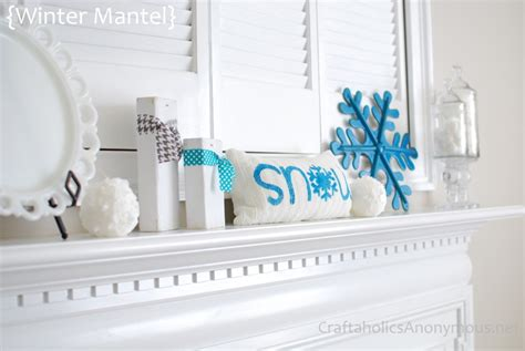 Decorating Ideas For January Winter Mantel Ideas