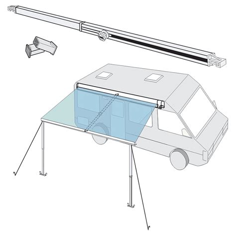 fiamma awning accessories fiamma straight centre rafter