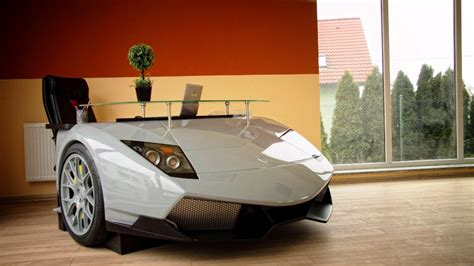 What Are Lamborghinis Made Of This Is An 11 000 Desk Made From A Lamborghini S Nose