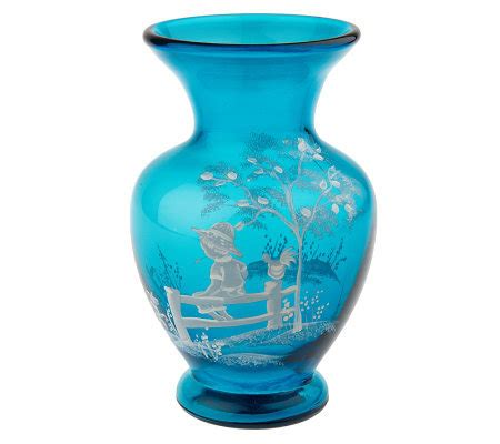 Gregory Vase by Fenton Glass Gregory Vase Page 1 Qvc