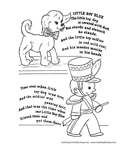puppy rhymes classic goose nursery rhymes coloring pages classic the