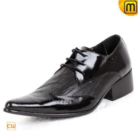 mens designer black leather dress shoes cw760001