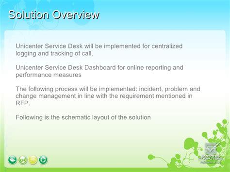 Unicenter Service Desk by Ca Service Desk Presentation