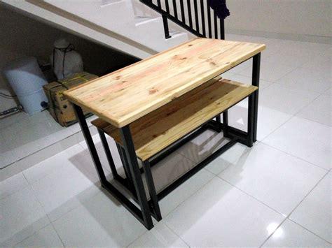 Kursi Kerja Besi kursi kayu rangka besi berbagai macam furnitur kayu