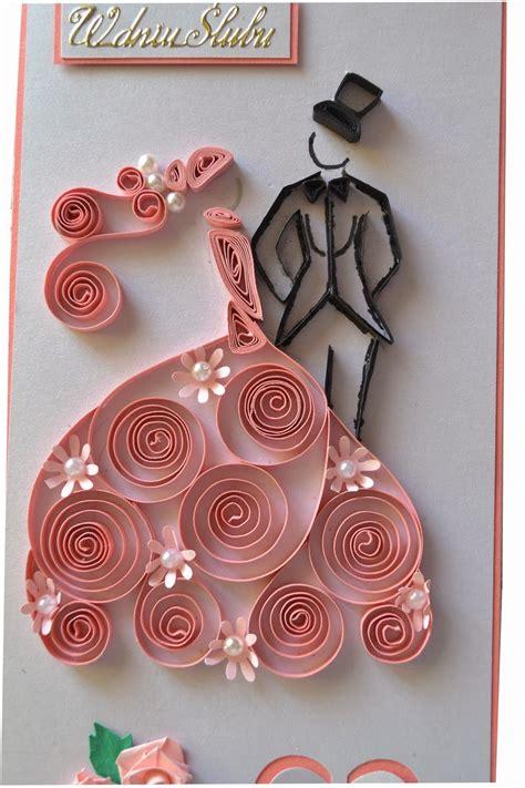 quilled wedding card by nietylkokartk