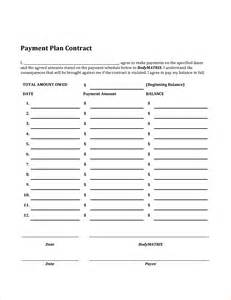payment plan templates 3 payment plan contractreport template document report
