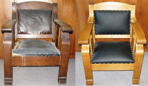 Leather Reupholstery by Designing Touches Furniture Restoration Refinishing