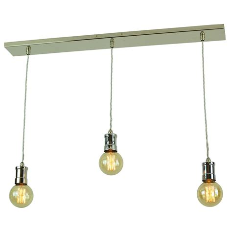 Suspension Ceiling Lights by 3 Light Nickel Bar Suspension Ceiling Light With Vintage