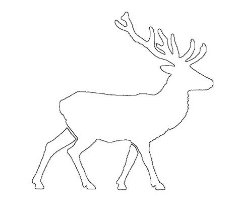 deer template deer silhouette stencil printable i tested the deer