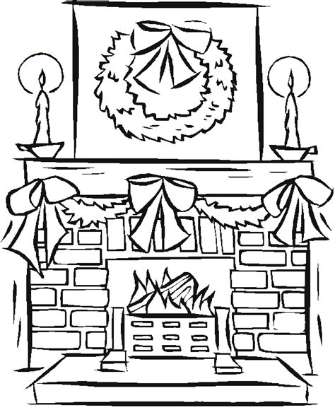 coloring pages of christmas fireplace free coloring pages of fireplaces