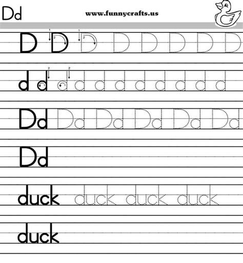 Alphabet Worksheets For Grade by Letter D Handwriting Worksheets For Preschool To