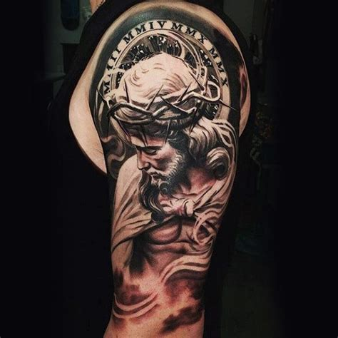detailed tattoo designs for men 100 religious tattoos for sacred design ideas