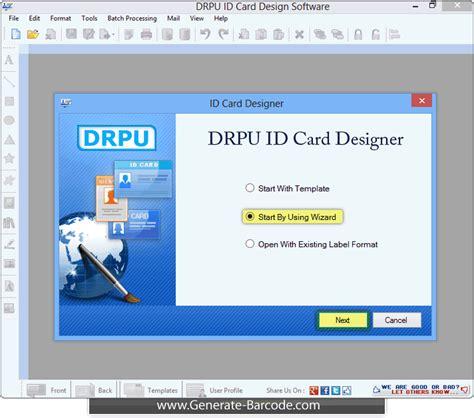 id card design software open source id card design software screenshot generate barcode com