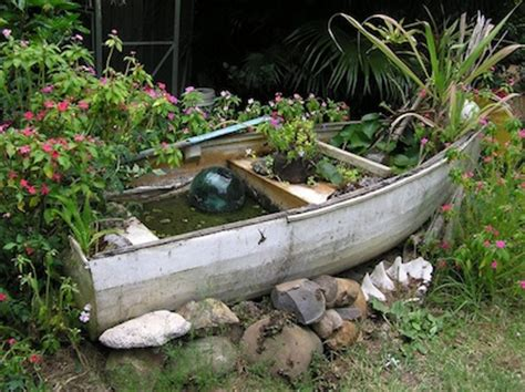 Garden Decoration Boat by Reuse Boats 7 Botanical Boat Designs