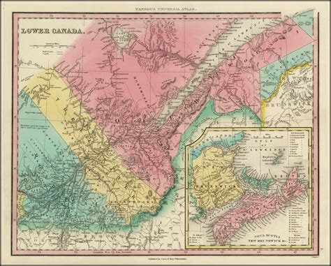map of and lower canada canada east formerly lower canada barry