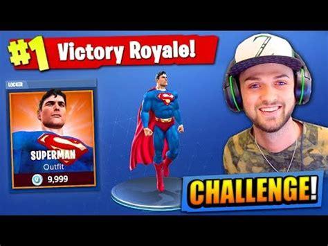 the superman challenge in fortnite: battle royale