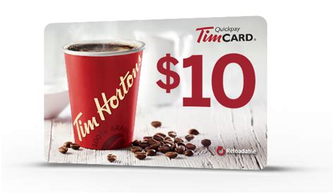 Tim Hortons Gift Card Balance Check - tim hortons gift of coffee receive a 10 timcard 174