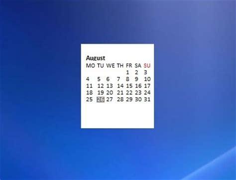 Calendar Desktop Gadget Windows 7 Calendar Windows 7 Desktop Gadget