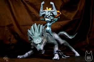 template link otaku crafts wolf link and midna papercraft