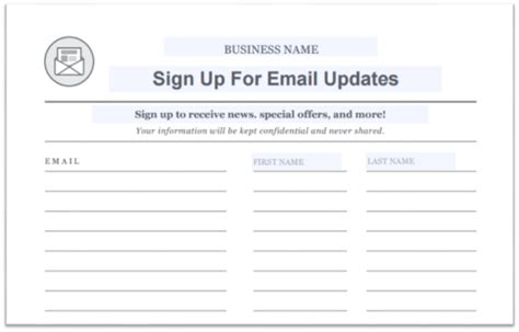 email sign up sheet template 15 creative ways to grow your email list constant