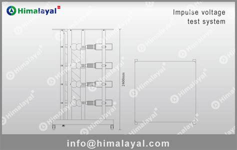 layout diagram maker hivg 400kv 10kj impulse voltage generator 800kv range