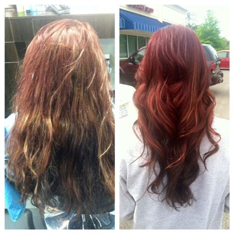 before and after hair color pictures professional hair color vs box hair color a before and
