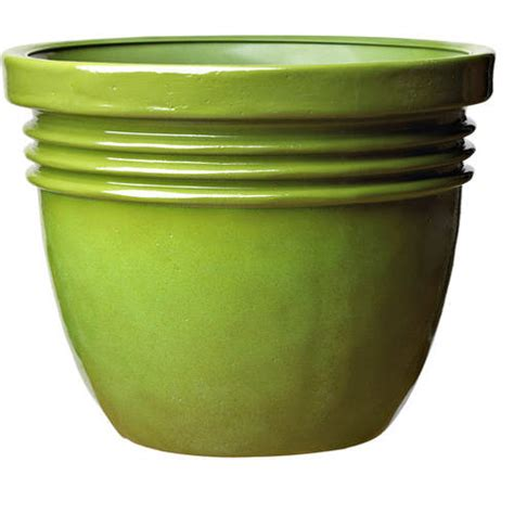 better homes and gardens bombay decorative planter green