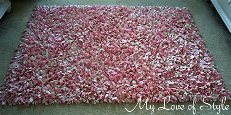 diy shag rag rug tutorial my of style my