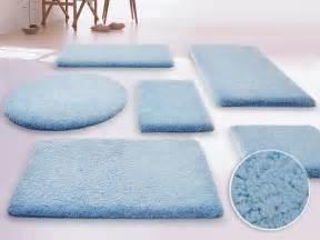 Blue bathroom bath rugs interior design ideas