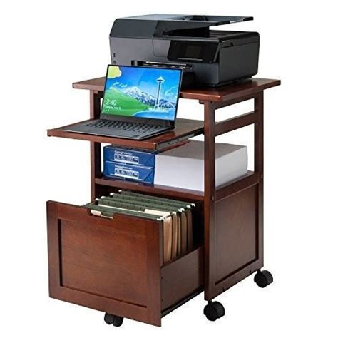 desk with printer storage cart printer stand office desk mobile rolling laptop