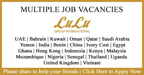 For Mba Freshers In Bahrain by Vacancies In Lulu International