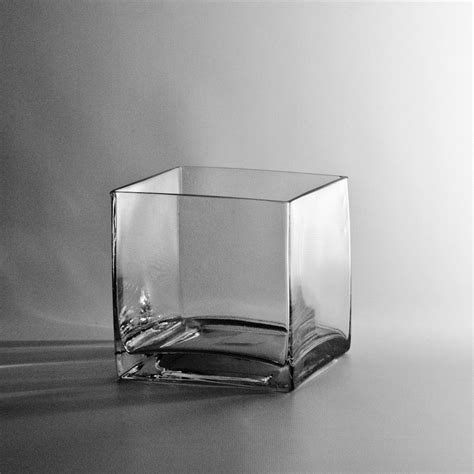 Glass Cube Vase by 6 Quot Square Glass Cube Vase Discount Wholesale Vases And