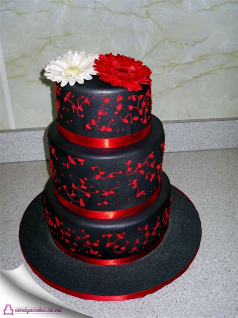 Gothic Home Decorations by Black With Red Wedding Cake Welcome To Cindys Cakes
