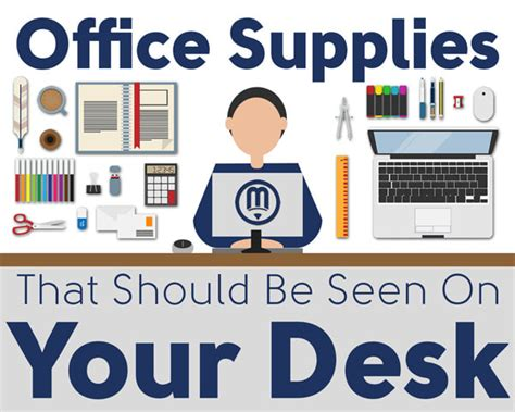 Office Supplies You Should Office Supplies That Should Be Seen On Your Desk Infographic