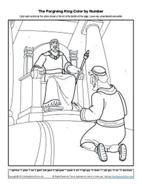 coloring page for the unforgiving servant the parable of the unforgiving servant lesson sunday