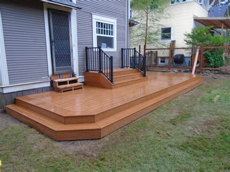 wraparound deck composite deck with wrap around step deck masters llc