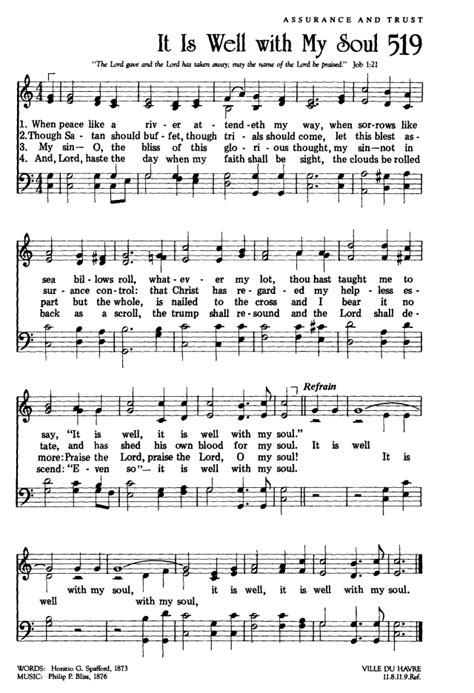 printable lyrics it is well with my soul triple the scraps hscrc13 hymn 2 it is well with my soul