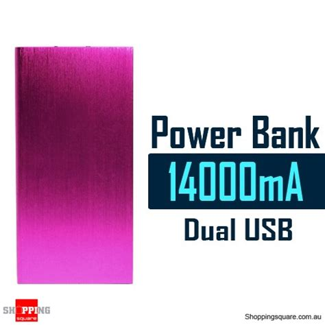 Mg Power Bank Powerbank Ultra Thin Dual Usb Output 2 1a 10000mah Mur 14000mah aluminum ultra slim universal dual usb port power bank rechargeable battery pink colour