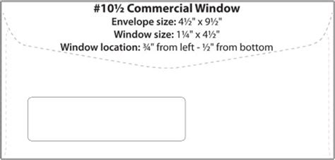 standard window envelope template commercial window booklet catalog templates western