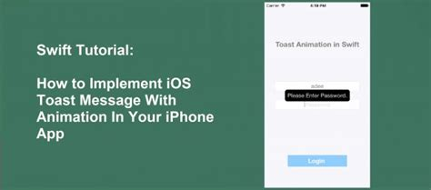 xml tutorial in ios swift tutorial how to implement ios toast message with