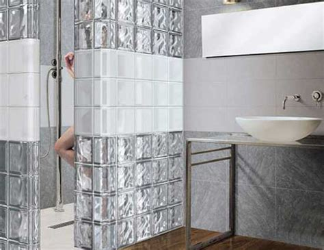 glass block designs for bathrooms glass block wall design ideas adding unique accents to eco homes