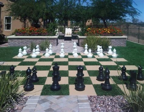 backyard chess set backyard chess set with artificial grass by foreverlawn