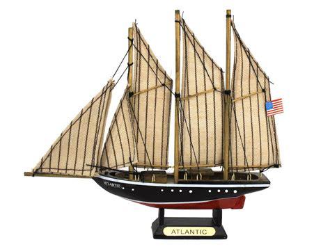 Mini Handmade Wood Model Ship - buy wooden atlantic model sailboat decoration 7 inch