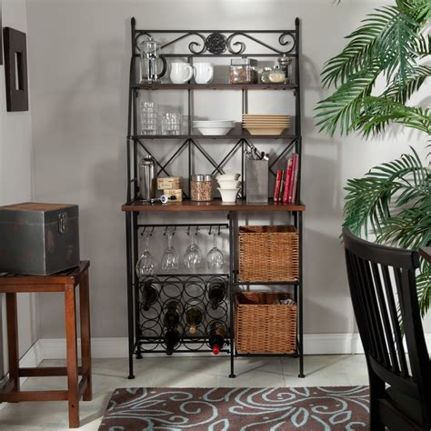 Bakers Rack With Baskets by Belham Living Solano Bakers Rack With Baskets Jet