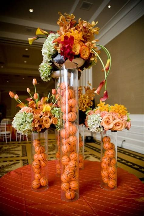 banquet centerpieces lovely basketball centerpieces b lovely events