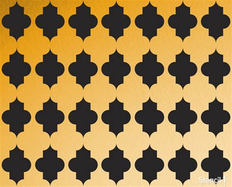 repeat pattern wall stencil quatrefoil repeat pattern stencil 11 x11 stencil1