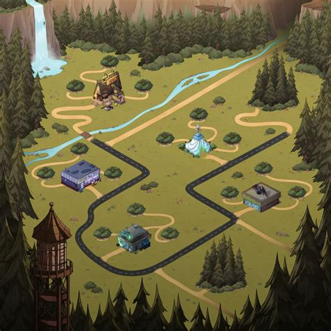 map of gravity falls image mystery shack attack new world map jpg gravity