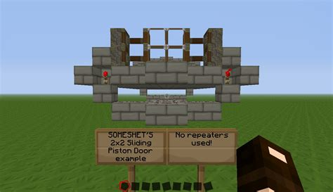 Piston Door Minecraft by 2x2 Sliding Piston Door Minecraft Project