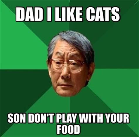 meme creator dad i like cats son don t play with your