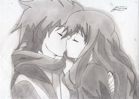 imagenes a lapiz de parejas besandose beso por jhonny78 dibujando